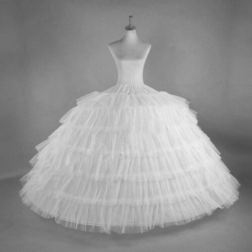Reifrock 6 Ringe Petticoat Unterrock passt zu Brautkleid Hochzeit Party RR7
