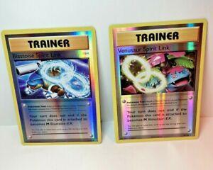 Pokemon-Blastoise-amp-Venusaur-Spirit-Link-89-73-108-Reverse-Holo-XY12-Evolutions