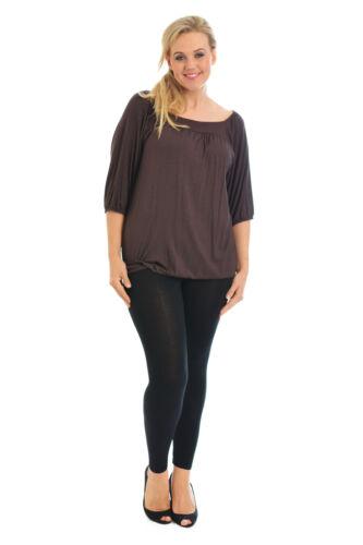 New Womens Top Plus Size Ladies Tunic Square Neck Tie Plain Shirt Nouvelle