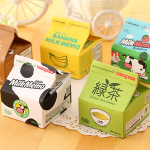 5pcs/lot Cute Cartoon Milk Box-packed Sticky Note Pad Paper School Office Supply