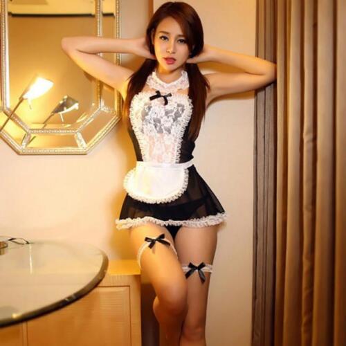 Womens Halloween Maid Costume Maids Princess Outfit Fancy Dress Cosplay Nice Q