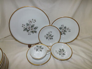 Image is loading Noritake-Apple-Blossom-5463-pattern-73-pc-Dinnerware- & Noritake Apple Blossom #5463 pattern 73 pc Dinnerware Set Service ...