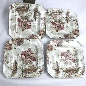 222-Fifth-Gabrielle-Cream-Set-of-four-Salad-Plates-Beautiful-New-In-Box