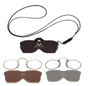 Occhiale da Vista / Lettura Pince Nez Montana NR2 in Metallo + Astuccio Laccio
