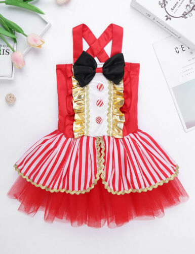 Baby Kid Girls Circus Ringmaster Costume Sequins Romper Outfit Halloween Clothes