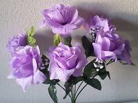 Lavender Silk Flower Rose Bush