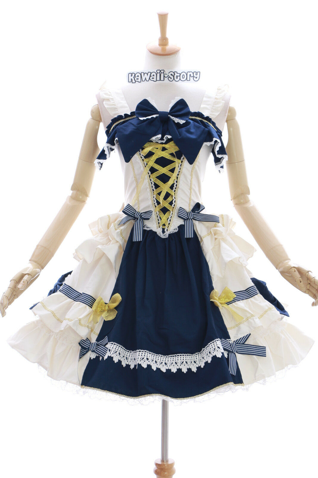 JL-620-1 white blue Stretch Classic Gothic Lolita Kleid Kostüm Kostüm Kostüm dress Cosplay 924779