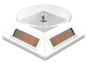 Solar Powered Rotating Display Stand Mini Turntable W