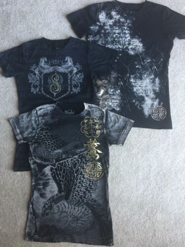 M Asiatici Biker Black Donna Sinful Cavalli Shirt 3 Wings Distressed T Grey Eagle qTR7UC