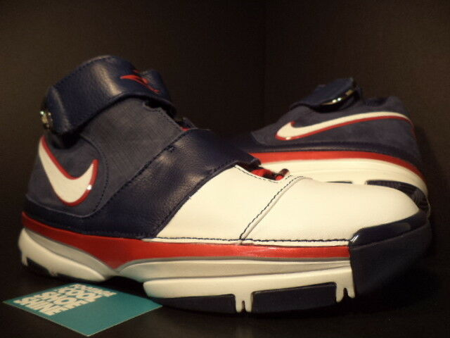 2007 Nike Zoom KOBE II 2 ST STRENGTH USA OLYMPIC WHITE blueE RED 316835-411 DS 13