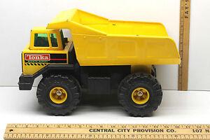 Tonka Mighty Diesel Original 1993 Yellow Dump Truck Vintage Construction Toy