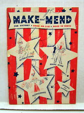 1942 Make & Mend for Victory Sewing Book #S-10 with 50 Pg (L7621-ARRI)