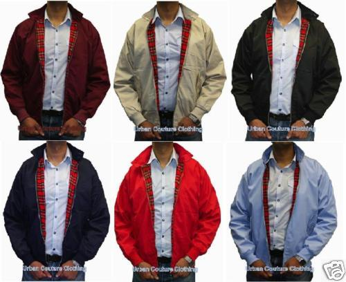 HARRINGTON JACKET XS S M L XL XXL 3XL 4XL 5XL NAVY BLUE