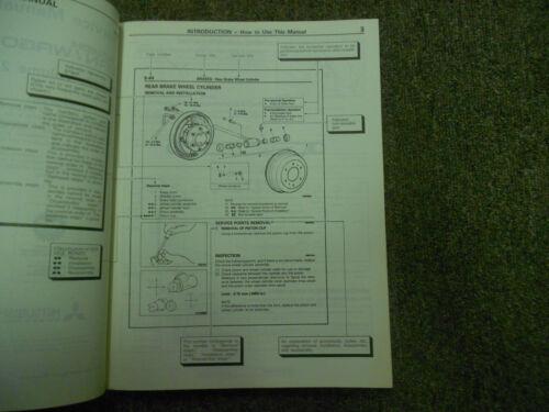 1987 MITSUBISHI Van Wagon Service Shop Manual FACTORY OEM VOL 2 ELECTRICAL DEAL