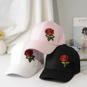 d0ca54b16dba05 Fashion Roses Baseball Caps Sun Hats Solid Snapback Cap Dad Hats For ...