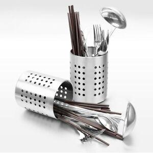 Stainless-Steel Utensil Drying Rack Cutlery Drainer Chopsticks Storage Holder
