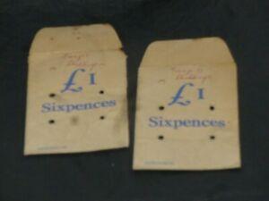 2 0ld  paper money bags