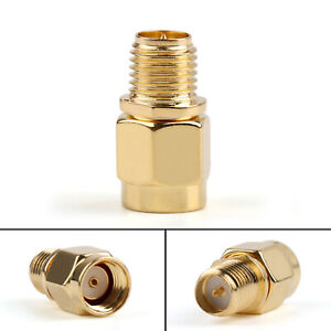 1Pc-Adapter-RP-SMA-Male-Jack-To-RP-SMA-Female-Connector-Straight-Gold-Plating-SS
