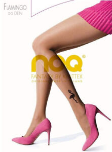 Tights-FLAMINGO-20-Denier-Colour-Natural-S-M-L-Summer-Party-black-tattoo-Knittex
