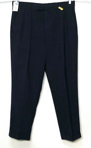 Mens Austin Reed 35 X 30 Navy Blue Pleated Cuffed Wool Dress Pants Work Slacks Ebay