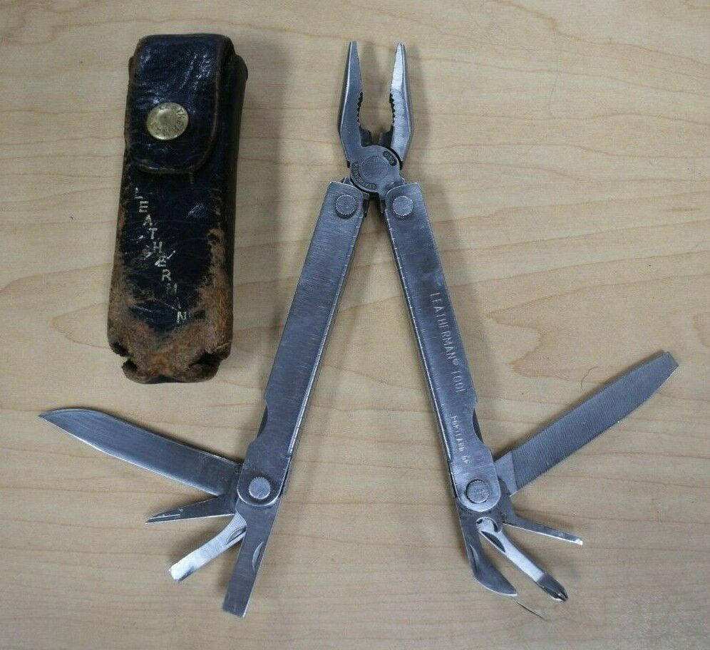 Vintage Leatherman PST  Multi Tool w  Case Pre-owned Free Shipping  no tax