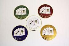 80 Spoke Luxor Wire Wheel Gold Emblems New Set Of 4