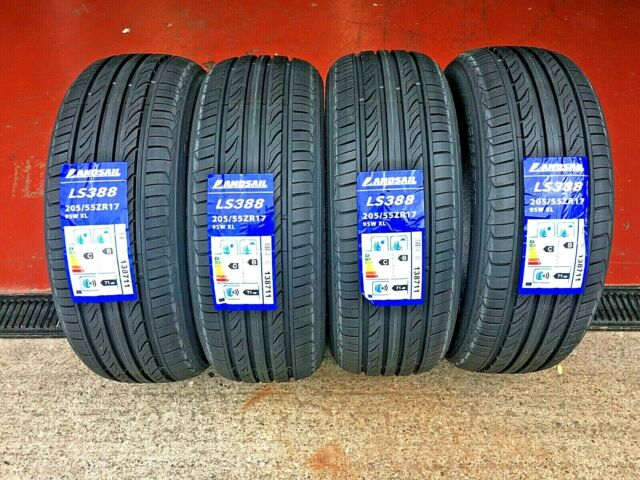 NEW 2 x 205-55-ZR17  95W XL GOOD Budget Tyres  2055517 205 55 17  FREE FITTING