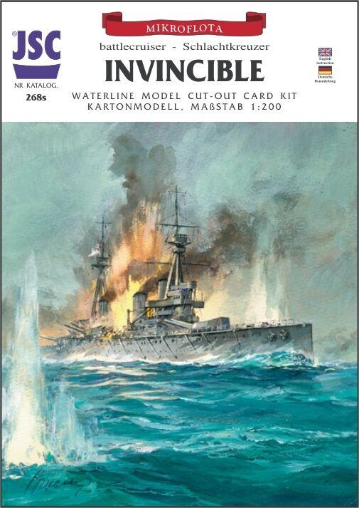 Battlecruiser Hms Invincible 1 200 without   with Lasercut Parts Jsc 268s