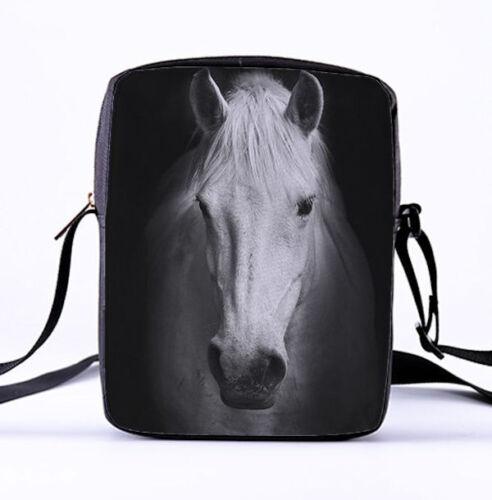 HORSE /& WESTERN GIFTS  LADIES GIRLS HORSE PRINT MESENGER TOTE SHOULDER HANDBAG g