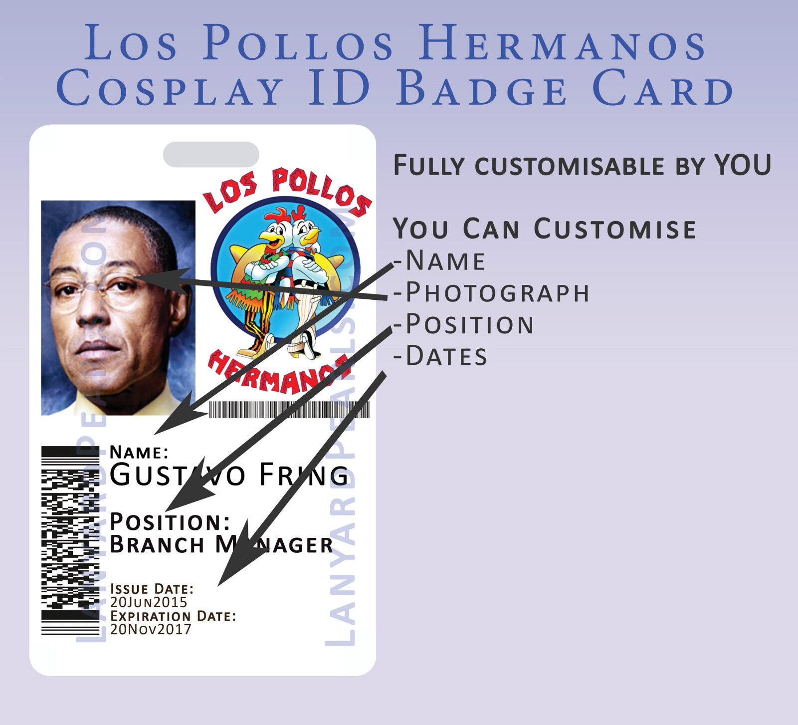 Los Pollos Hermanos - Breaking Bad - Novelty Cosplay ID Badge Card