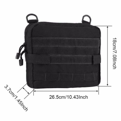 Tactical Large Molle Pouch Magazine Organizer Utility EDC Phone Medic Belt Bag