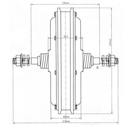 26/'/'250W E-Bike Conversion Kit LCD Elektro-Fahrrad Heckmotor Umbausatz Hinterrad