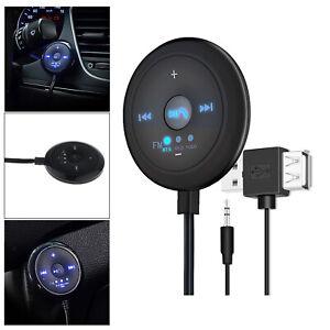 AUX Audio Adapter 2 In 1 FM  Base Eingebautes Mikrofon 5x5x1.7 Cm Für Auto TV