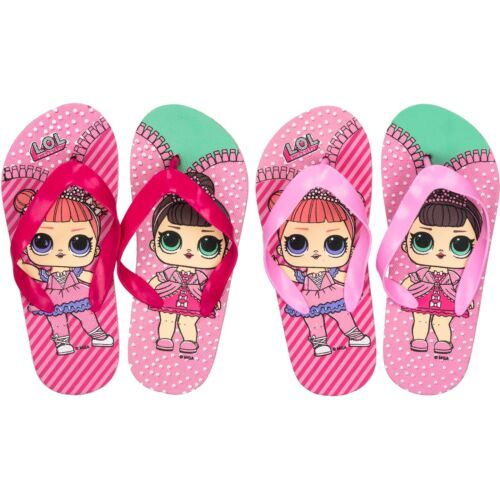 LOL Official Flip Flops Girls OFFICIAL MERCHANDISE tagged and bagged stock