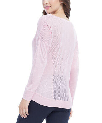 Size 8 Pink T-shirt With Long Sleeved Ladies Womens Sports Top With Mesh Back