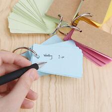 Item 1 Kraft Paper Binder Ring Easy Flip Flash Card Study Cards Memo Pads Stationery