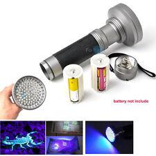 Pro 100 LED Powerful UV BlackLight Torch Light Money Trace Detection Flashlight