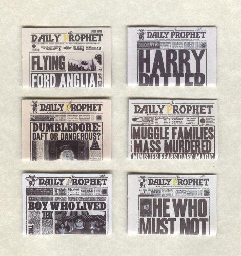 Sei fatto a mano la casa delle bambole scala 1//12TH giornali Harry Potter Set 1
