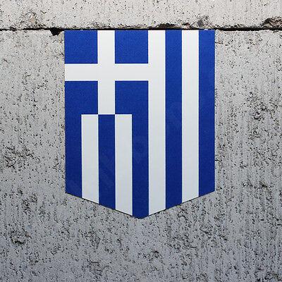 "Greek Decal Vinyl Emblem 2/"" x 2.5"" Flag of Greece car sticker"