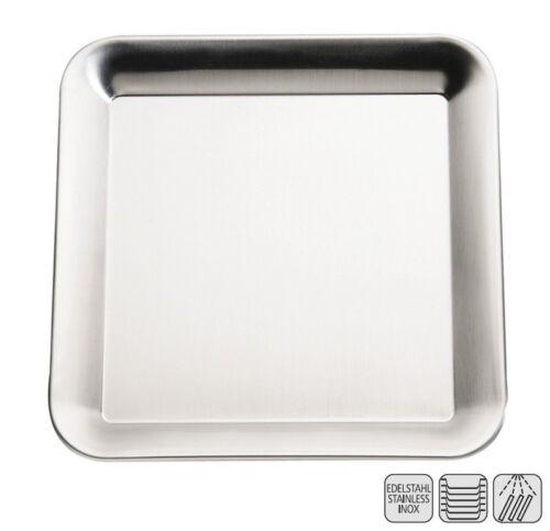 "Serie /""PURE/"" Edelstahl Tablett Größe wählbar stapelbar matt poliert"