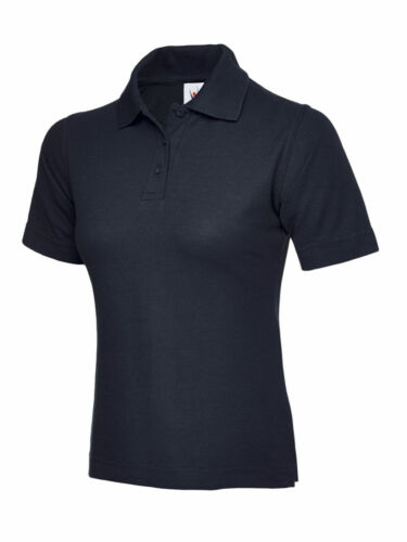 Navy Ladies Poloshirt Uneek UC106 Casual Plain Workwear Womens