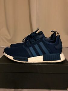 624ea06aeb585 Adidas NMD R1 Originals Men s Shoes Size 8 Blue Night BY3016 Rare ...