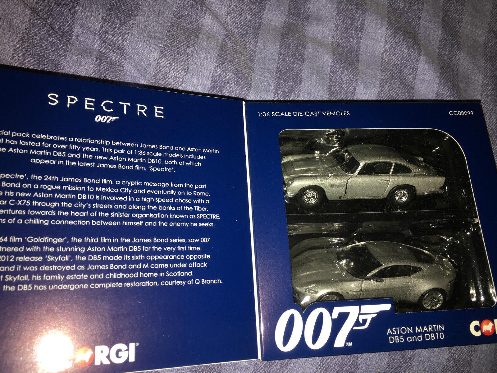 James Bond, spectre ASTON MARTIN DB5 et DB10 CORGI voiture modèle