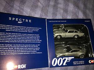 James Bond, Spectre Aston Martin Db5 et Db10, ensemble de modèles de voitures Corgi 5055288631564