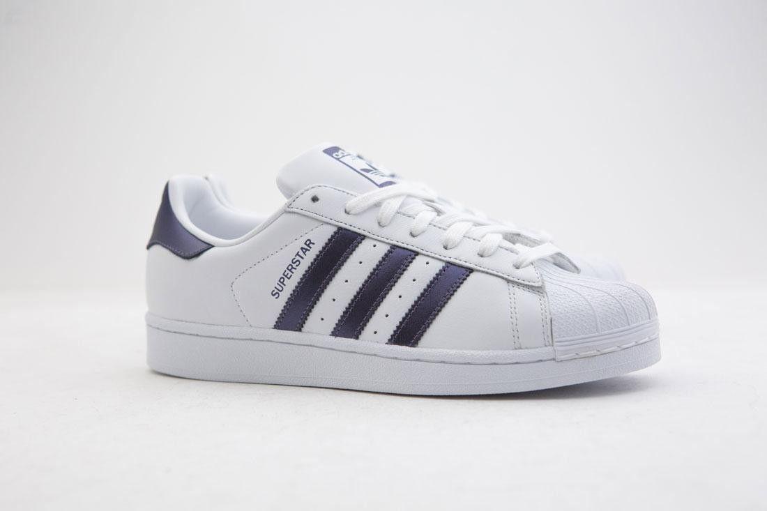 CG5464 Adidas Women Superstar W white purple night metallic footwear white