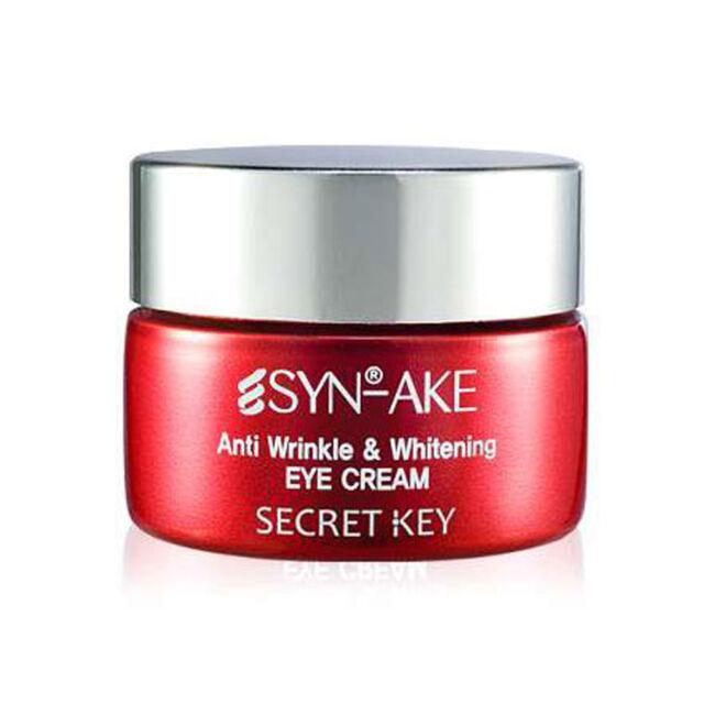 [SECRET KEY] Syn Ake Anti Wrinkle & Whitening Eye Cream - 15g / Free Gift