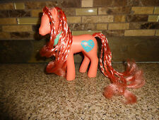 """Vintage 1988 My Little Pony """"Beauty Bloom"""" Sweetheart Sister Coral Pink Aqua"""