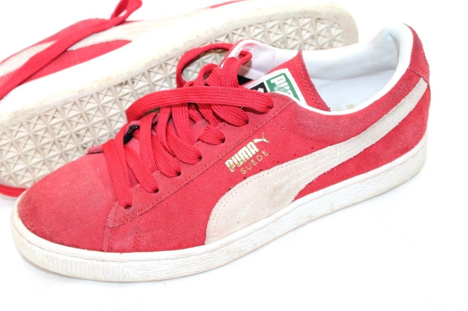PUMA Size 7 Smash Men's Suede Shoes Red Retro Sneakers