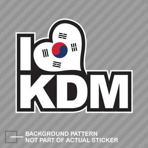 Korean Flag I Love Kdm Sticker Decal Vinyl Korea Korean Ebay