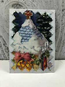Handmade-ACEO-034-Night-Before-Christmas-034-Artist-Trading-Cards-Original-Art-Unknown